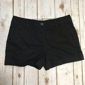LOFT Black Chino Shorts Size 2